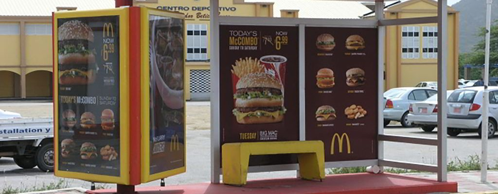 Bus Shelter ad for McDonald's